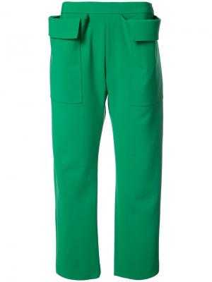 Oversized side pockets trousers Maison Rabih Kayrouz. Цвет: зелёный