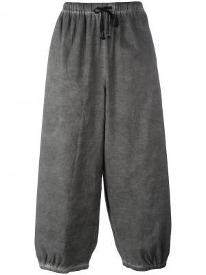 Свободные брюки на шнурке Unconditional. Цвет: серый