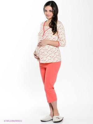 Пижама Hunny Mammy. Цвет: коралловый, кремовый
