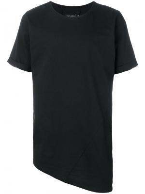 Асимметричная футболка Alchemy. Цвет: чёрный