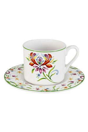 Чашка с блюдцем 0,2 л IMARI. Цвет: мультиколор