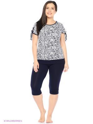 Комплект домашней одежды (футболка, бриджи) HomeLike. Цвет: синий