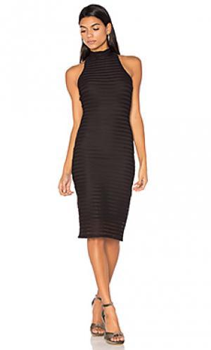 Mesh crochet turtleneck dress twenty. Цвет: черный