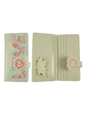 Кошелек женский Русские подарки. Цвет: серо-зеленый, бледно-розовый, серый