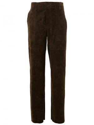 Прямые брюки Tobrouk Stouls. Цвет: зелёный