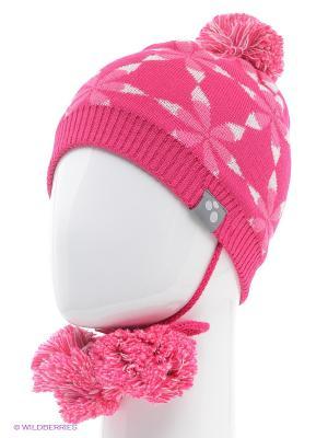 Вязаная шапка HUPPA. Цвет: фуксия