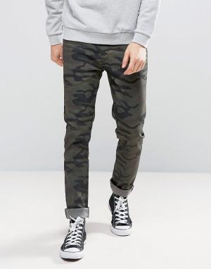Kubban Зауженные джинсы с камуфляжным принтом. Цвет: зеленый