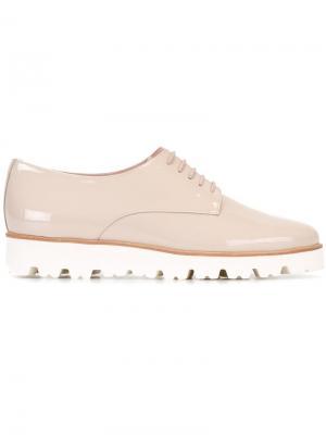Броги на шнуровке Pretty Loafers. Цвет: телесный