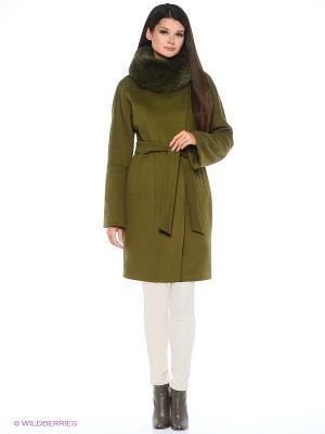 Пальто Electrastyle. Цвет: хаки