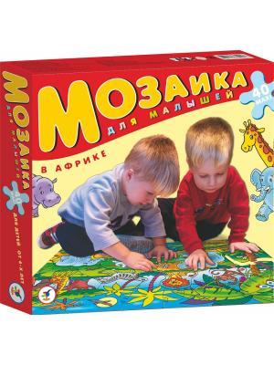 Мозаика для малышей.В Африке Дрофа-Медиа. Цвет: красный