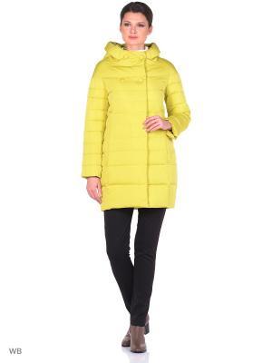 Зимняя куртка Malinardi. Цвет: желтый