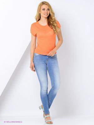 Блузка KEY FASHION. Цвет: оранжевый
