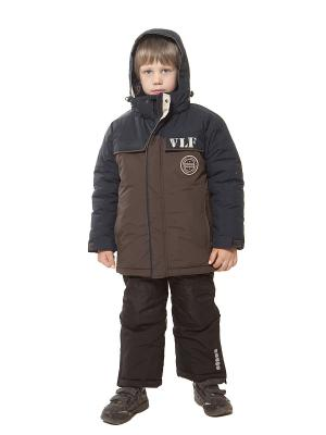 Куртка VELFI. Цвет: коричневый