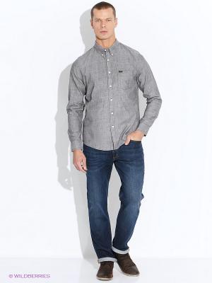 Рубашка LEE. Цвет: серый