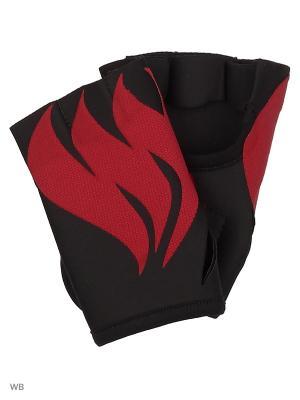 Перчатки для фитнеса BURN Malinasport. Цвет: черный, красный