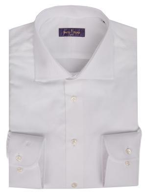 Рубашка Sarto Reale. Цвет: белый