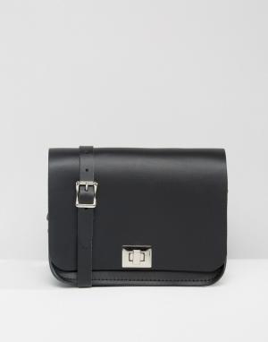 Leather Satchel Company Сумка через плечо. Цвет: черный
