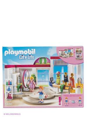 Игровой набор Бутик с одеждой и гардеробной Playmobil. Цвет: белый, розовый