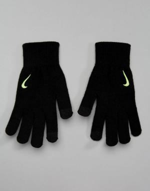 Nike Training Черные вязаные перчатки Tech Grip WG.I5-007E. Цвет: черный