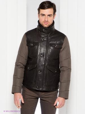 Куртка-пуховик Henry Cotton's. Цвет: темно-коричневый
