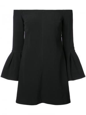 Платье с открытыми плечами Alexis. Цвет: чёрный