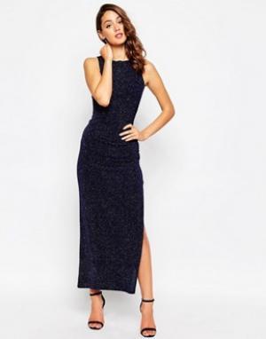 Sistaglam Платье макси из ткани с блестками Sparkle. Цвет: черный