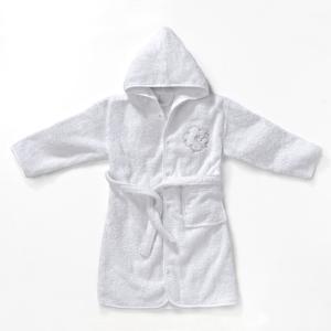 Халат с капюшоном Бетси R baby. Цвет: белый,розовый,серо-коричневый,синий