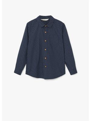 Рубашка - DAMIAN1 Mango kids. Цвет: темно-синий, индиго