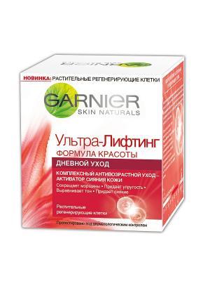 Крем для лица Ультра-лифтинг, Комплексный антивозрастной дневной уход, 50 мл Garnier. Цвет: красный, белый