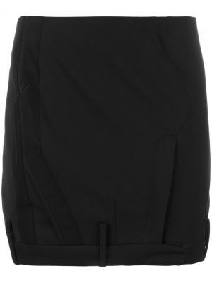 Мини-юбка строгого кроя A.F.Vandevorst. Цвет: чёрный