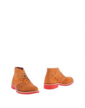 Полусапоги и высокие ботинки GABARDINE. Цвет: желто-коричневый