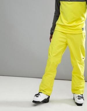 O'Neill Неоново-желтые горнолыжные брюки ONeill Hammer. Цвет: желтый