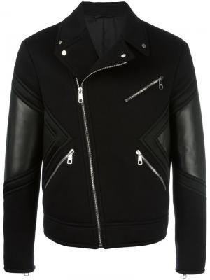 Байкерская куртка Neil Barrett. Цвет: чёрный