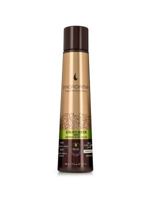 Шампунь увлажняющий для жестких волос Macadamia. Цвет: коричневый