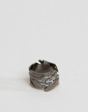 Icon Brand Кольцо в виде пера цвета пушечной бронзы. Цвет: серебряный