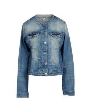 Джинсовая верхняя одежда LA FEE MARABOUTEE. Цвет: синий