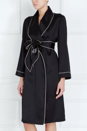Халат Classic Dressing Gown Agent Provocateur. Цвет: черный, пудрово-розовый