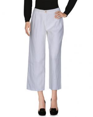 Повседневные брюки TONELLO. Цвет: белый