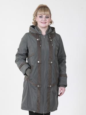 Пальто Джульетта VIKO. Цвет: оливковый