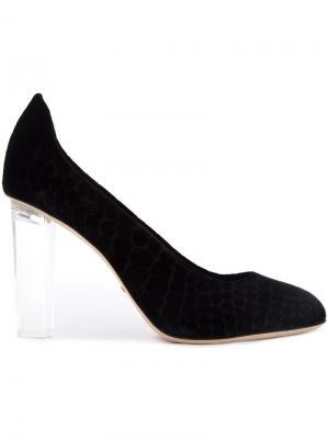 Бархатные туфли Niagara Jerome Rousseau. Цвет: чёрный
