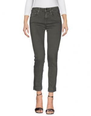 Джинсовые брюки KAOS JEANS. Цвет: серый