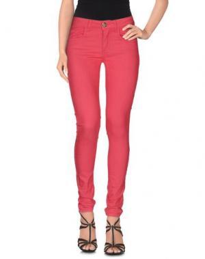 Джинсовые брюки MAISON ESPIN. Цвет: фуксия