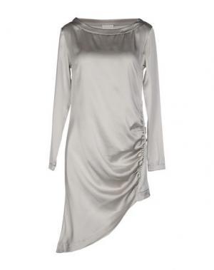 Короткое платье CA' VAGAN. Цвет: светло-серый