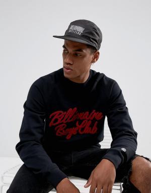 Billionaire Boys Club 5-панельная кепка черного цвета с логотипом. Цвет: черный