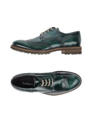 Обувь на шнурках CALPIERRE. Цвет: зеленый