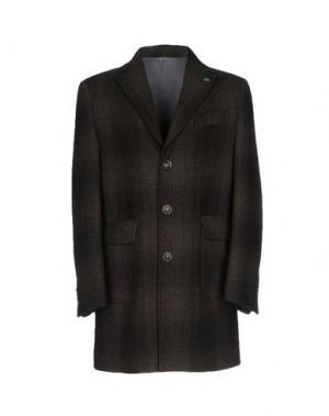 Пальто BARBATI. Цвет: темно-коричневый