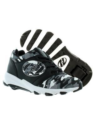 Роликовые кроссовки Hightail Heelys. Цвет: черный, белый, серый