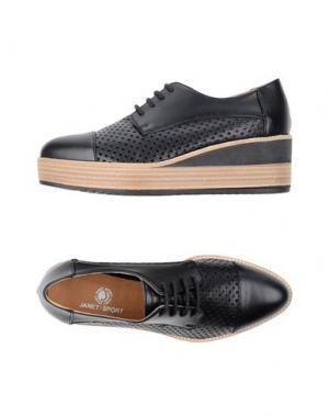 Обувь на шнурках JANET SPORT. Цвет: черный