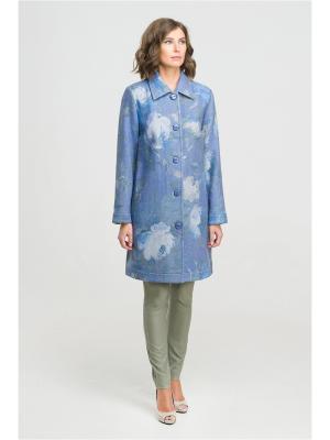 Пальто Modern. Цвет: голубой