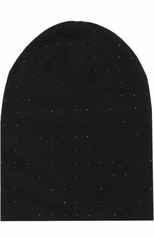 Кашемировая шапка с отделкой из страз Swarovski William Sharp. Цвет: черный